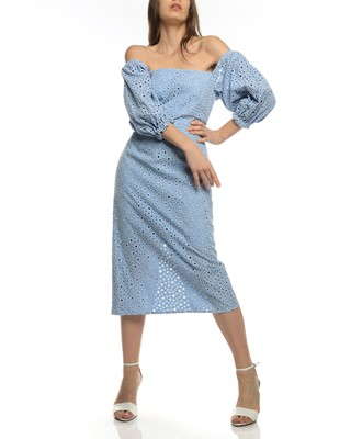 Picture of SHEILA OFF SHOULDER MIDI DRESS