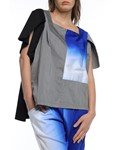 Picture of BLOUSE BLACK WITH GREY