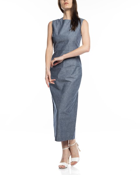 Picture of CHAMBRAY ARCADIA STRAIGHT DRESS, Picture 2