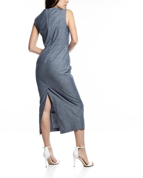Picture of CHAMBRAY ARCADIA STRAIGHT DRESS, Picture 5