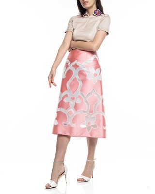 Picture of TEA LENGHT FLORAL A LINE SKIRT