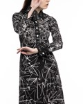 Picture of LONG SLEEVE SHIRT DRESS WITH METAL DRAGON METAL