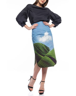 Picture of PENCIL SKIRT WITH SIDE SLITS