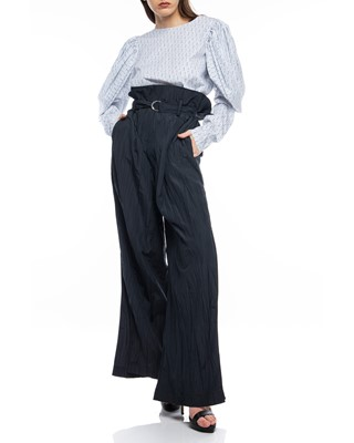 Picture of WIDE LEG TROUSERS WITH LONG TIE BELT
