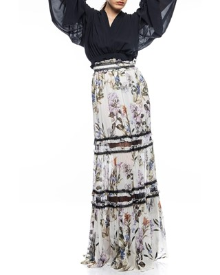 Picture of IRIS FLORAL MAXI SKIRT